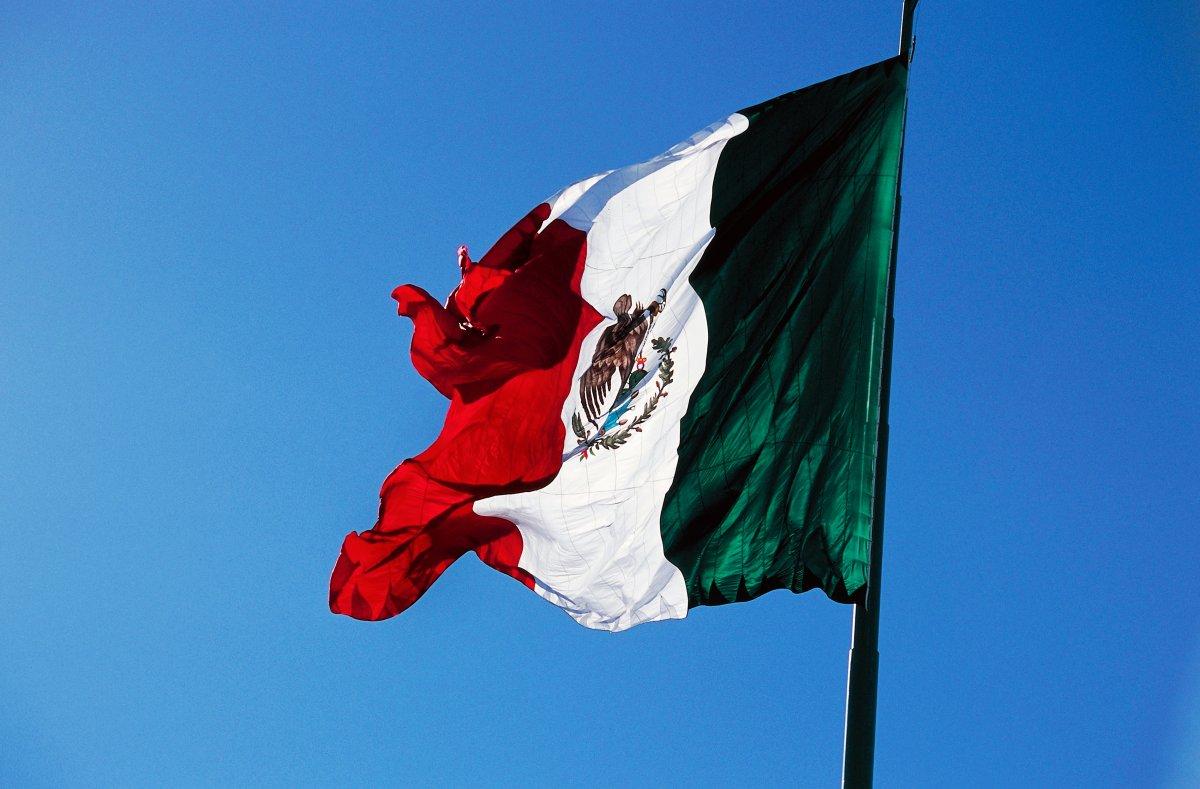 MEXICO - FEBRUARY 9: The Mexican flag, Ensenada, Northern Baja California, Mexico.
