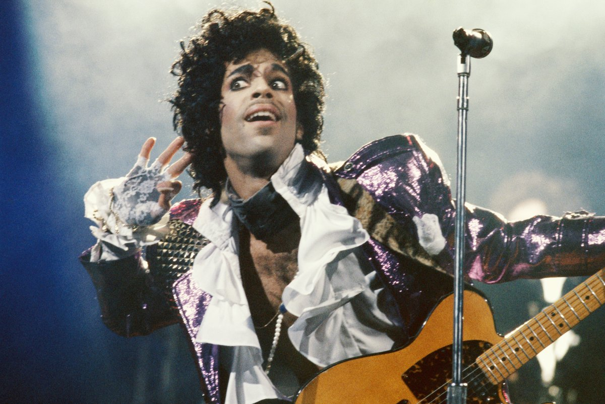 Prince performs in concert circa 1985 in Los Angeles, Calif.