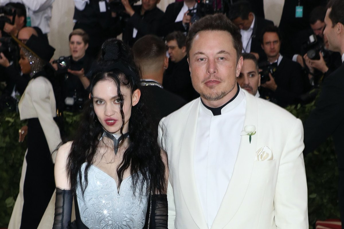 Grimes and Elon Musk attend Heavenly Bodies: Fashion & the Catholic Imagination, the 2018 Costume Institute Benefit at Metropolitan Museum of Art on May 7, 2018 in New York City.