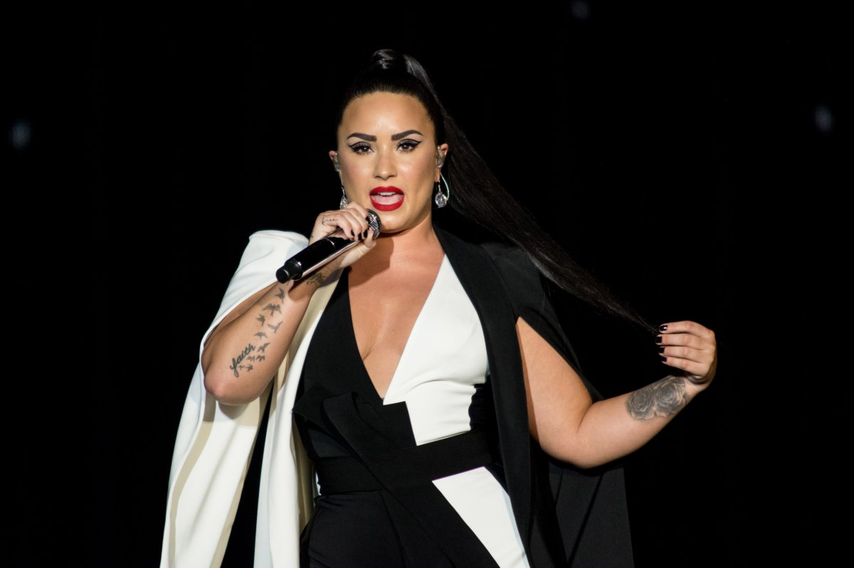 Demi Lovato performs on the Mundo stage on Day 2 of Rock in Rio Lisbon on June 24, 2018 in Lisbon, Portugal.