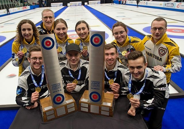 Manitoba wins double gold on the men's and women's side at the Canadian junior curling championships.