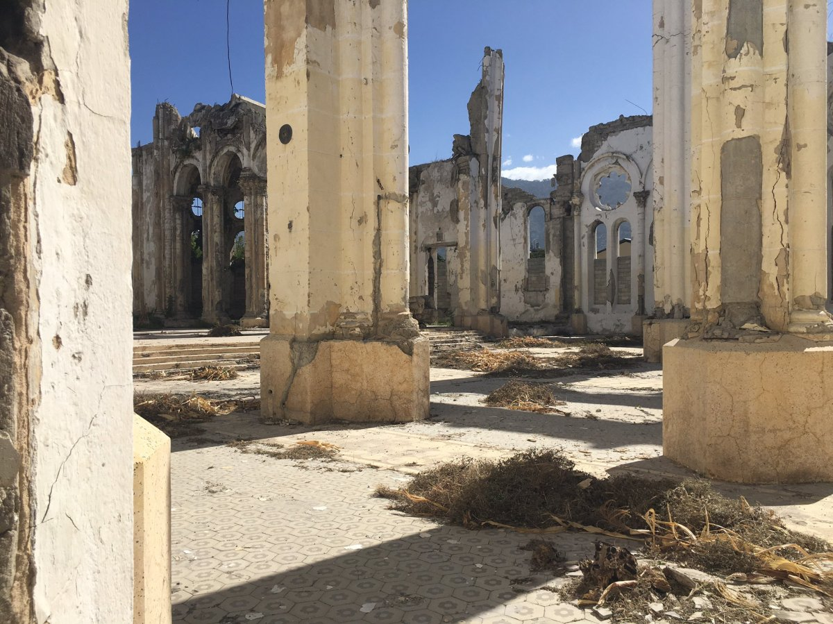 Haiti's Notre-Dame cathedral is still in ruins 10 years later. (Valerie Laillet)