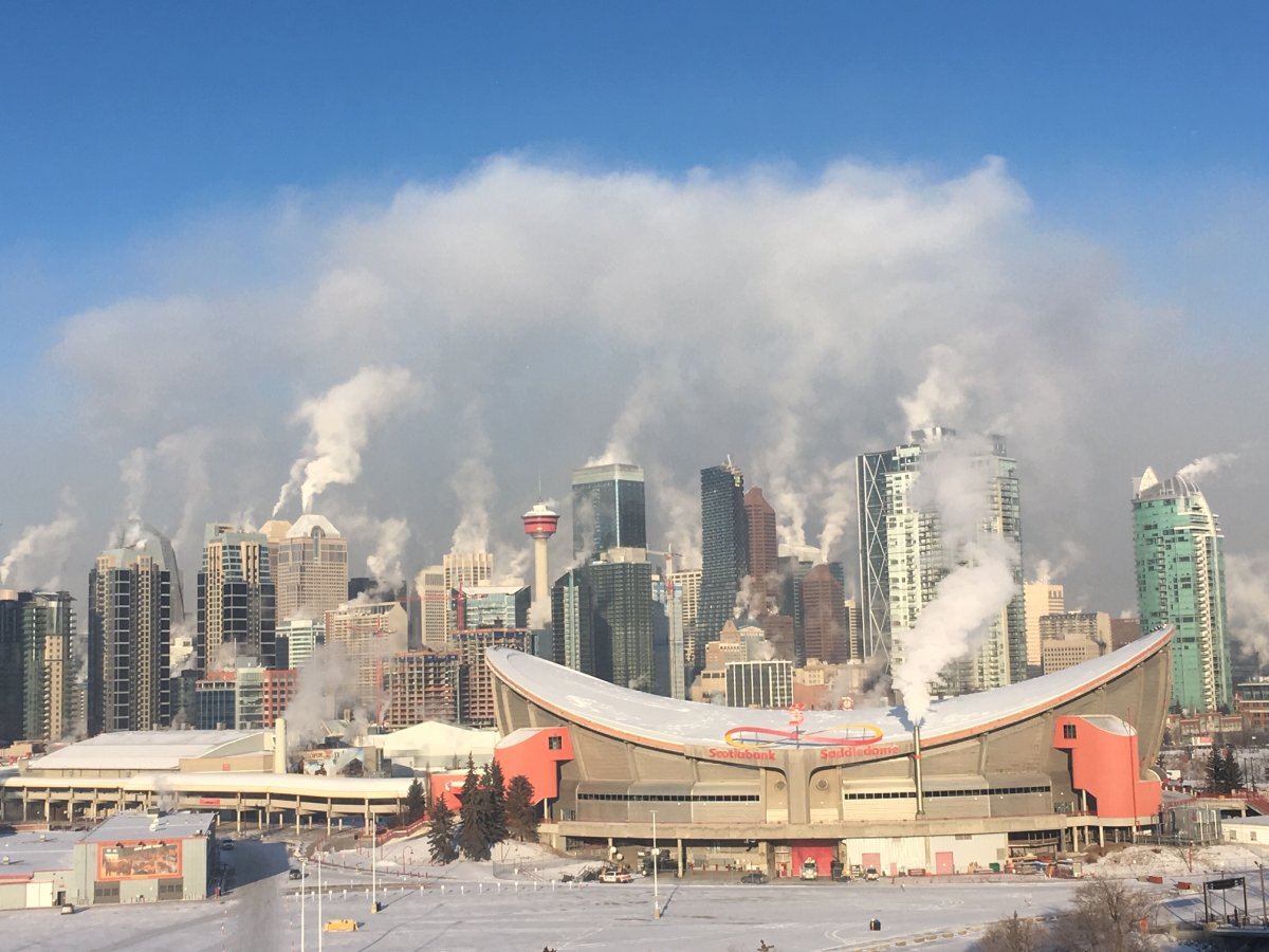 It was a cold day in Calgary on Wednesday, Jan. 15, 2020.