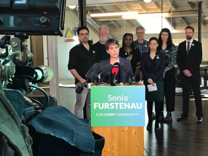 Green Party MLA Sonia Furstenau kicks off her leadership campaign.
