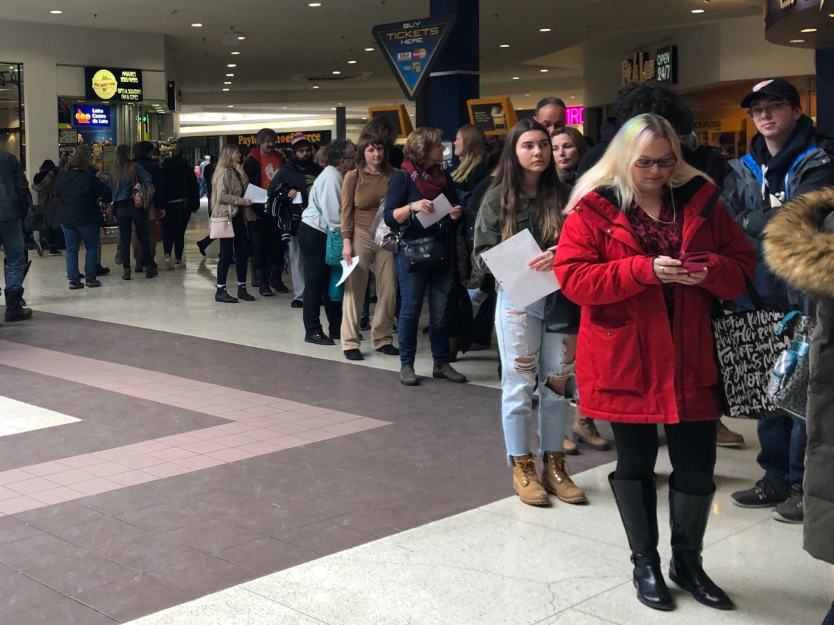 Thousands of people lined up in Elgin Centre for open casting call for Apple TV show 'See'.