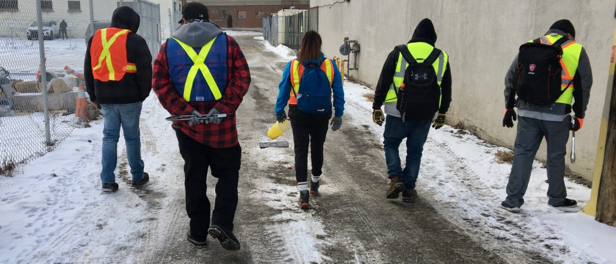 Bear Clan Patrol volunteers search for needles in this file photo.