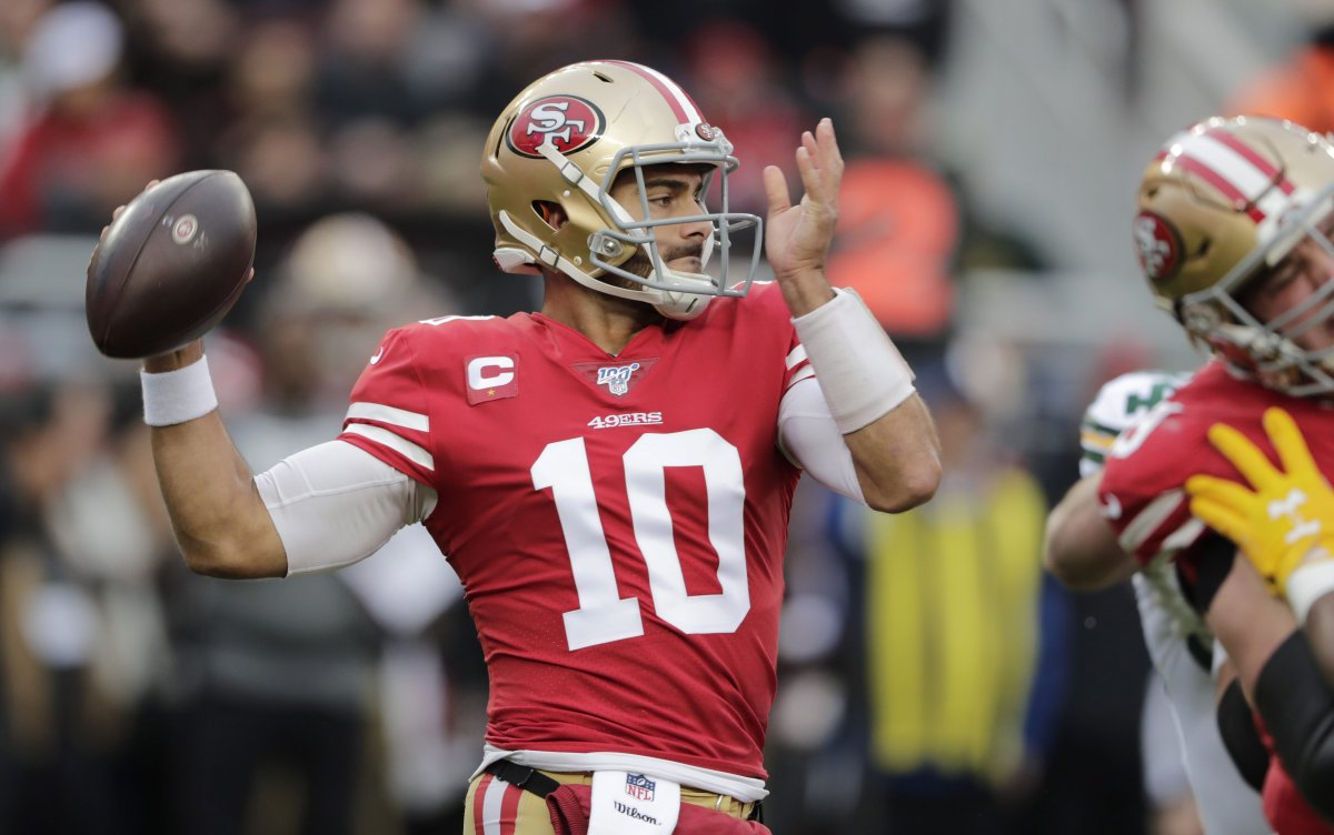 Quarterback Jimmy Garoppolo (10) and the San Francisco 49ers will face the Kansas City Chiefs in Super Bowl LIV on Feb. 2, 2020.