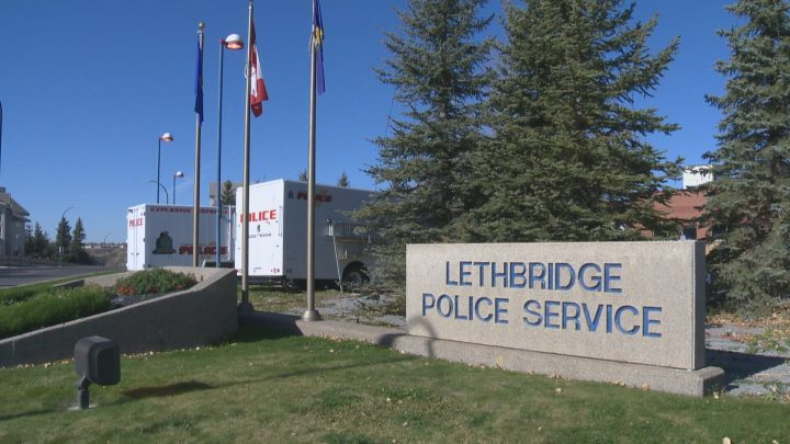 Lethbridge police have charged a man following an alleged assault at a local business on Monday night.
