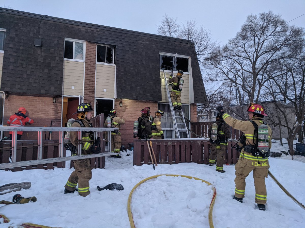 Ottawa firefighters tackle a blaze at 1100 Medford St. on Tuesday morning.