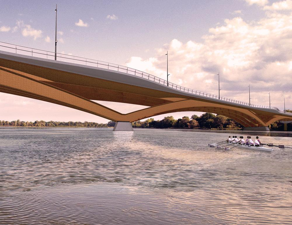 Kingston's revamped Third bridge design features 'light and low' look.