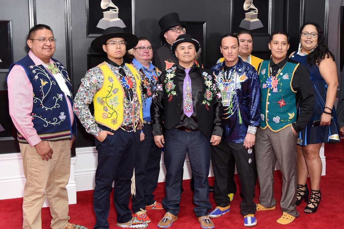 Northern Cree attends the 60th Annual Grammy Awards - Arrivals at Madison Square Garden on January 28, 2018 in New York City.