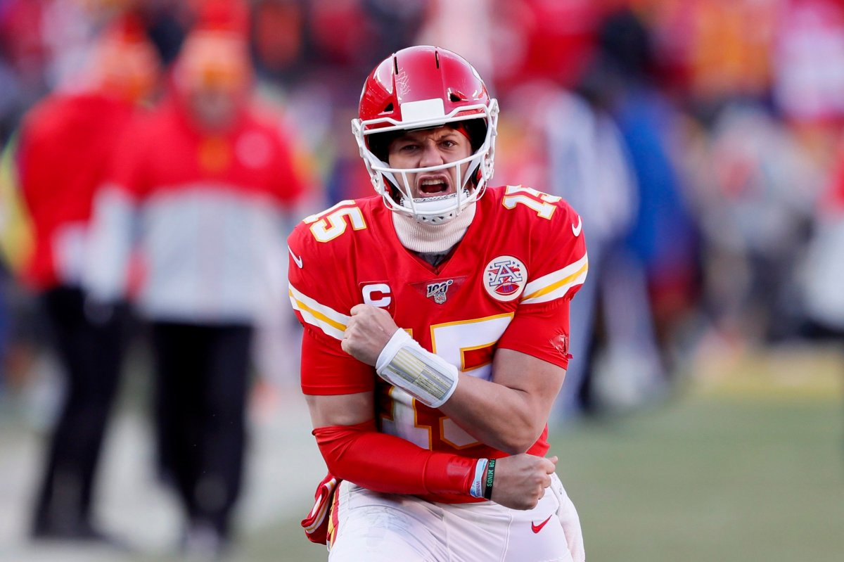 Kansas City Chiefs' Patrick Mahomes takes on the San Francisco 49ers in Super Bowl LIV in Miami, Florida on Feb. 2, 2020.