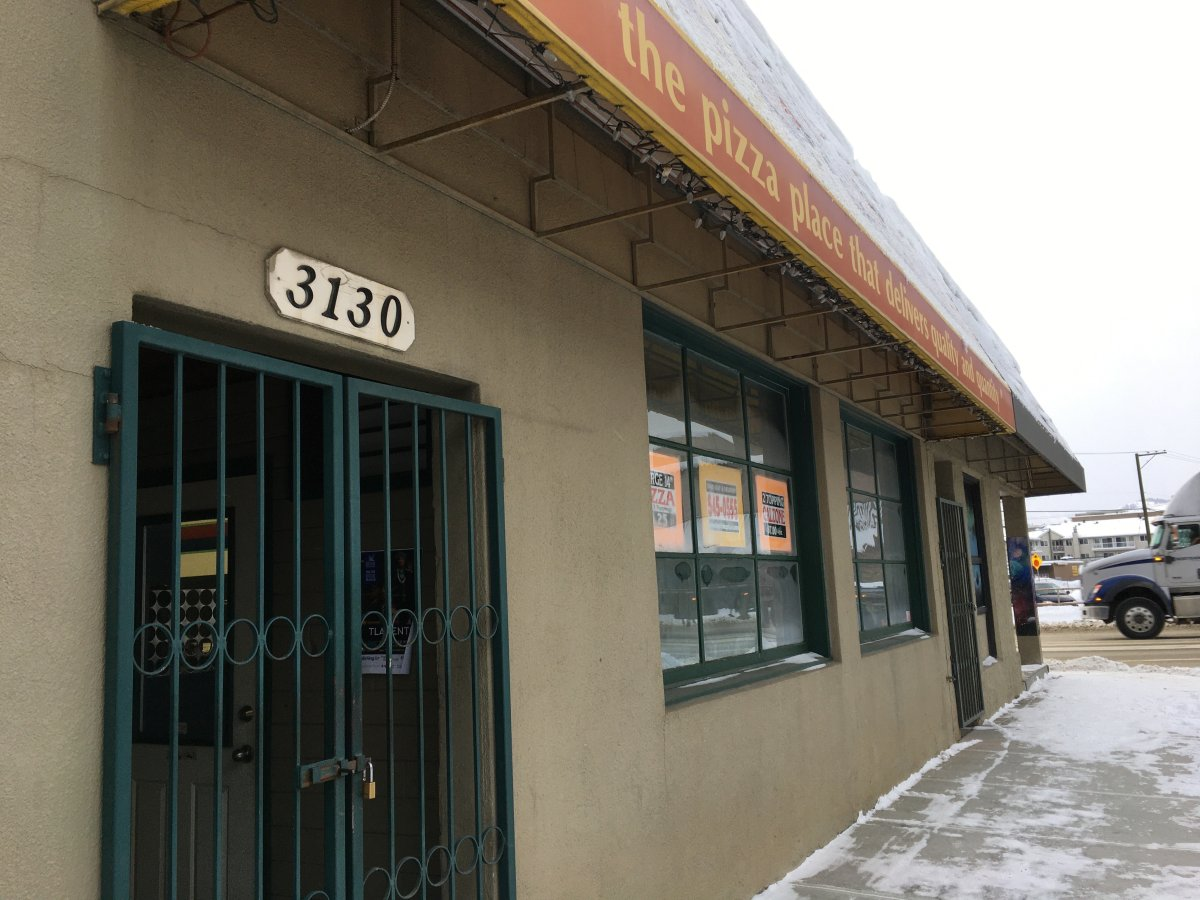 A family-run pizzeria was robbed at knife-point on Saturday evening.