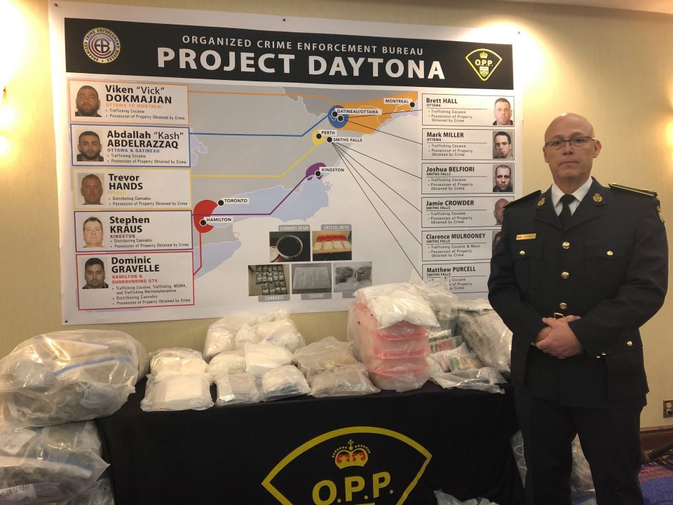OCEB Major Case Manager Detective Inspector Peter Donnelly unveiled details of the investigation and a display of the evidence seized during the investigation.
