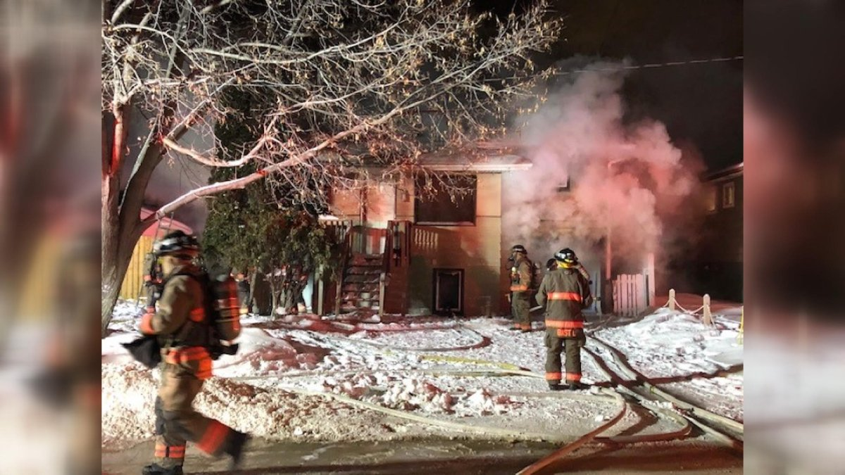 Saskatoon fire officials said a difficult structure and the extreme cold made battling a house fire more difficult.