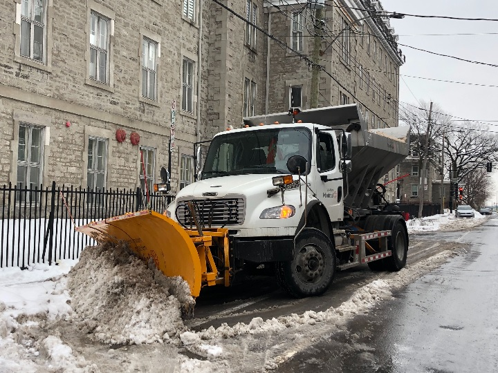 Snow-removal operations got underway in Montreal on Thursday, Jan. 2, 2020.