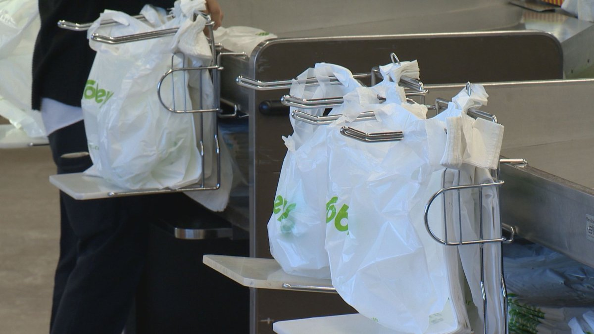 Sobeys estimates the move will eliminate 225 million plastic check stand bags every year.