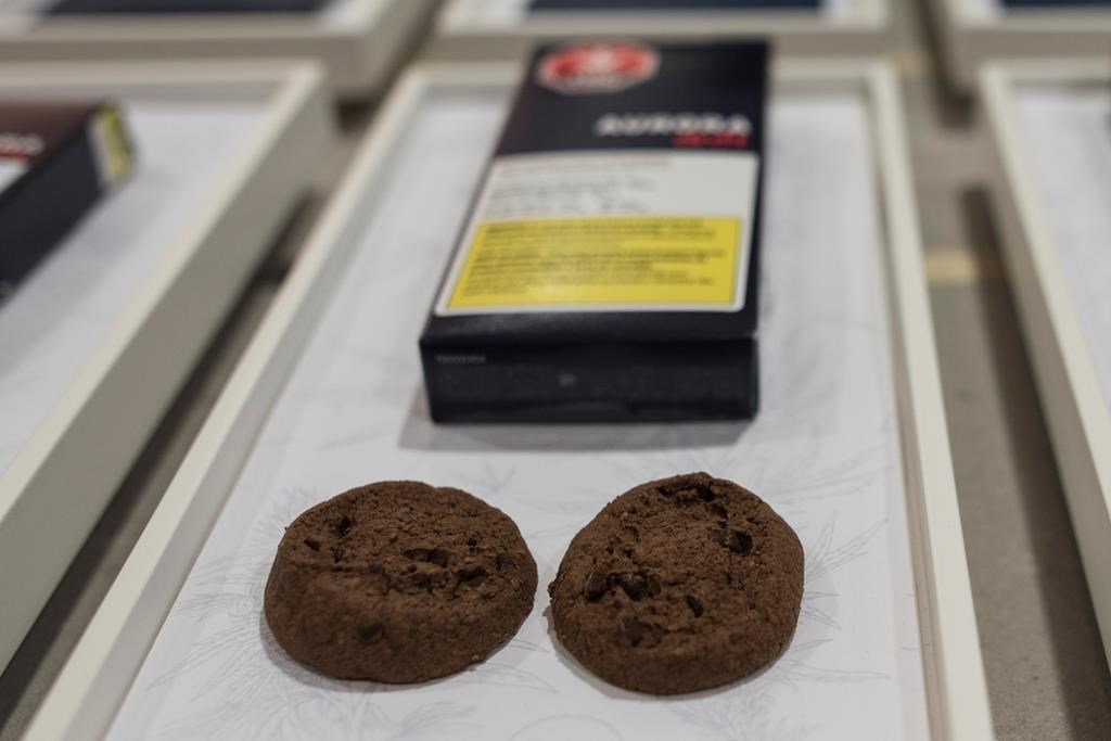 Soft-baked cookies from Aurora Cannabis Enterprises are photographed at the Ontario Cannabis Store in Toronto on Friday, January 3, 2020.