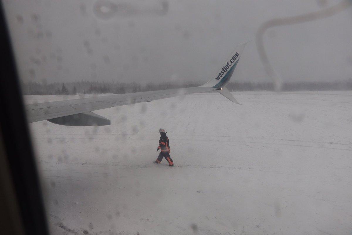 WestJet aircraft slides off runway at Halifax airport - image
