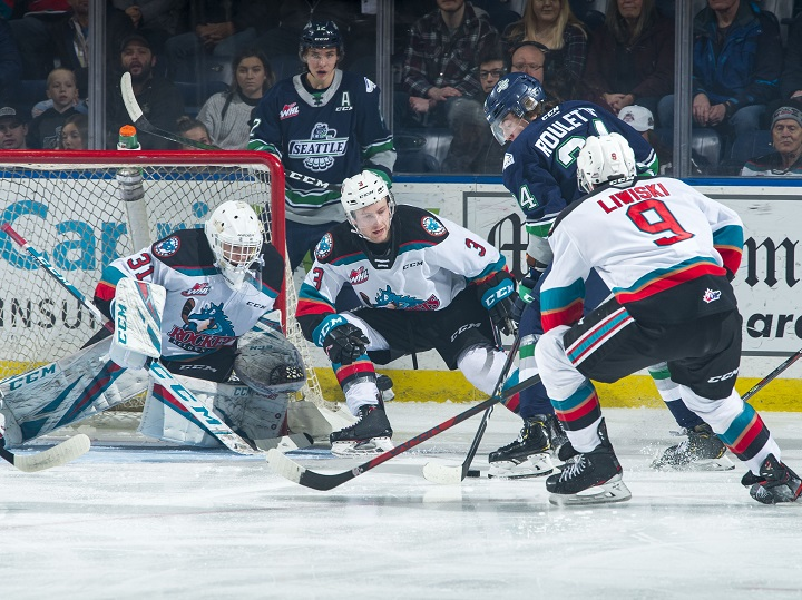 The Kelowna Rockets defeated the Seattle Thunderbirds 3-2, in overtime, at Prospera Place in Kelowna, on Friday, Jan. 24, 2020.