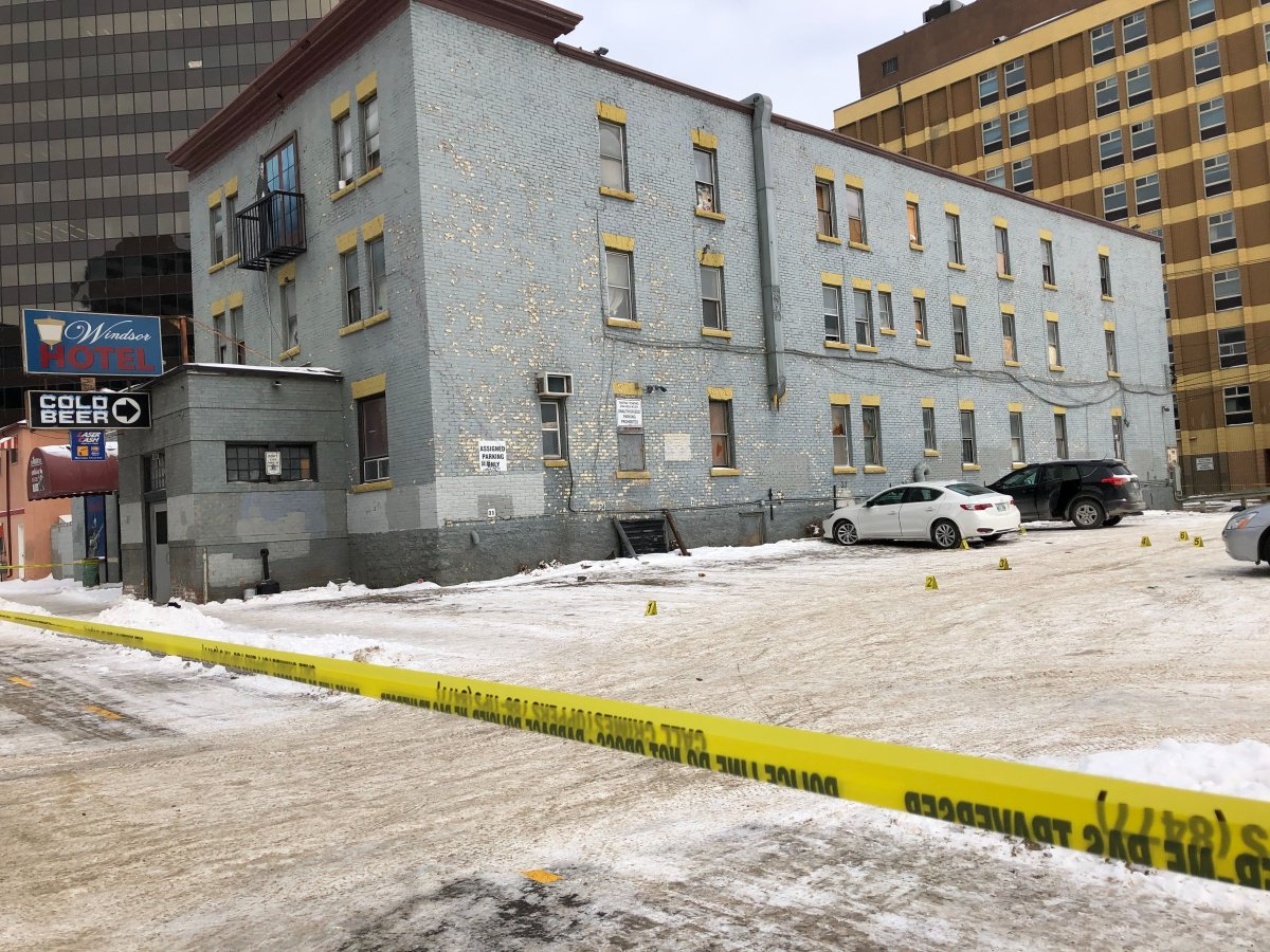 Winnipeg police say one man is dead after a fatal shooting at a downtown hotel early Sunday morning.