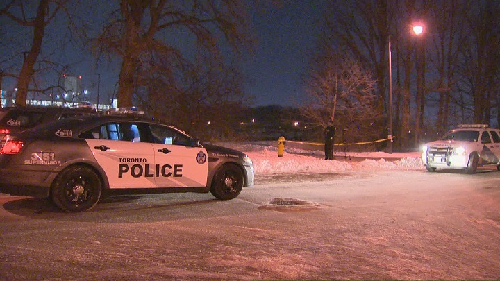 Police on scene after a woman was stabbed near York University.