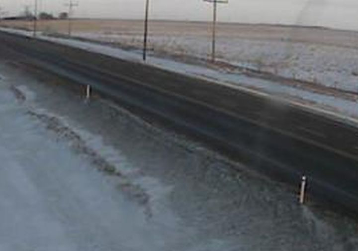 A view of Highway 9 near Youngstown, Alta., at 4:26 p.m. on Jan 21, 2020.