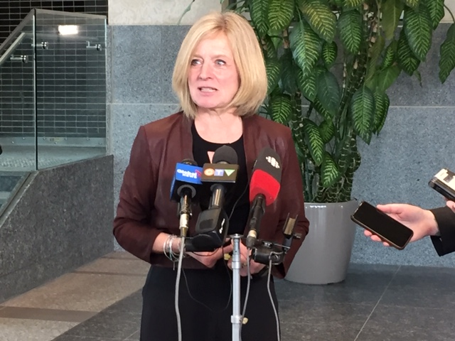 A file photo of Alberta's Opposition leader Rachel Notley.