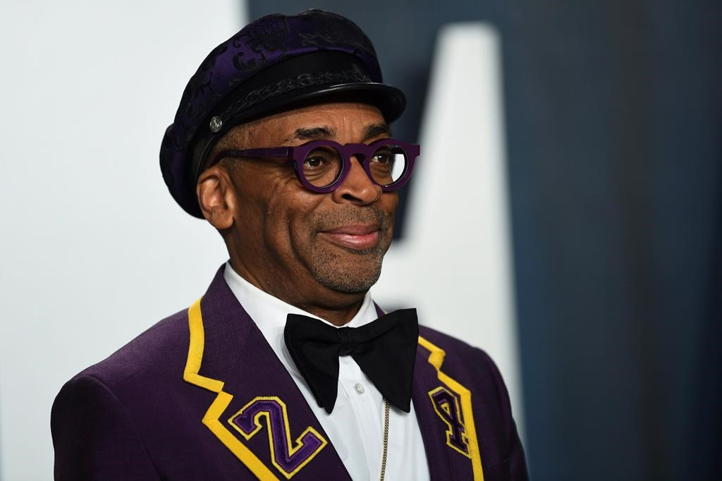Spike Lee arrives at the Vanity Fair Oscar Party on Sunday, Feb. 9, 2020, in Beverly Hills, Calif.