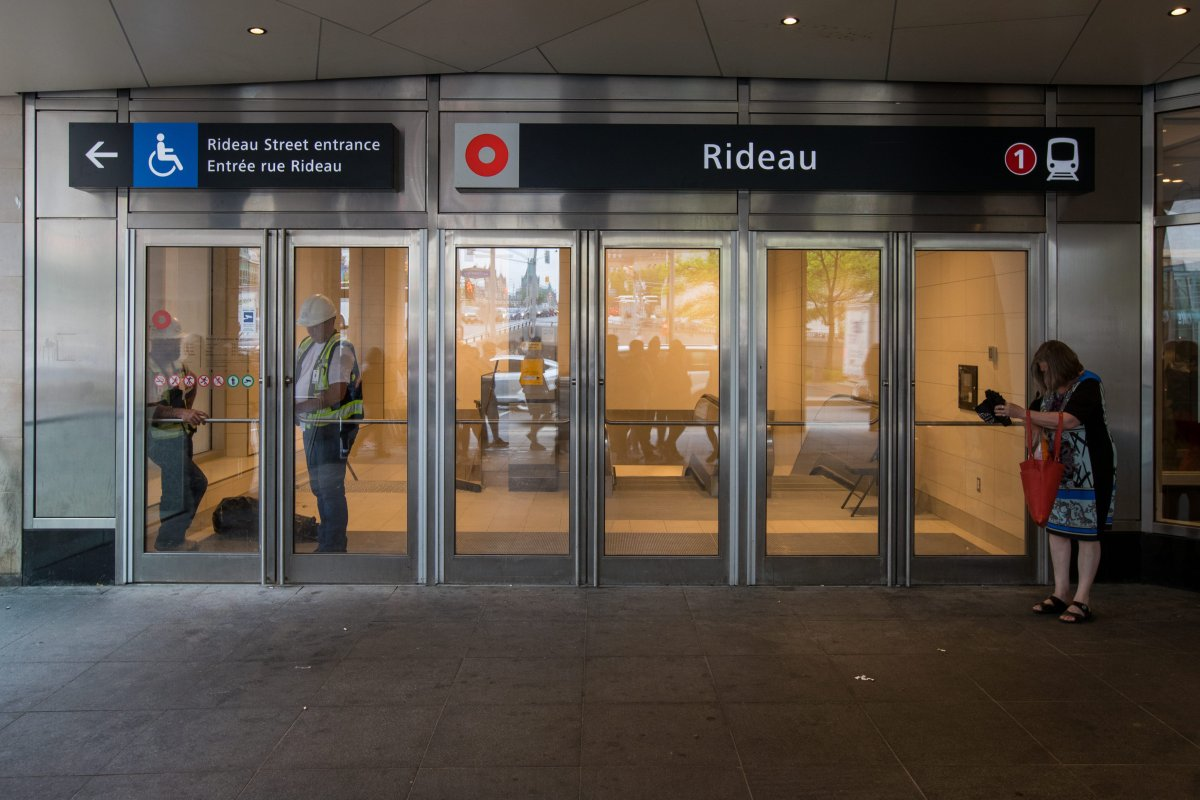 The O-Train's Rideau Station in downtown Ottawa, Ont. on Thursday, June 20, 2019.
