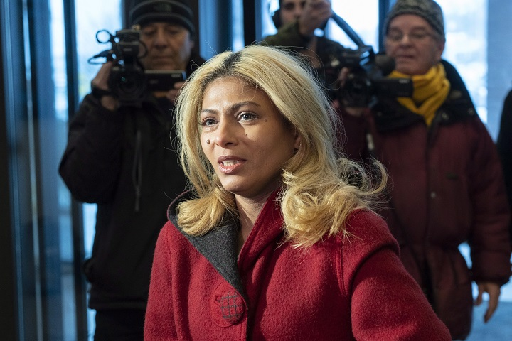 In this file photo, Ensaf Haidar, wife of blogger Raif Badawi, arrives for a meeting with Prime Minister Justin Trudeau in Sherbrooke, Que. on Wednesday, January 16, 2019.