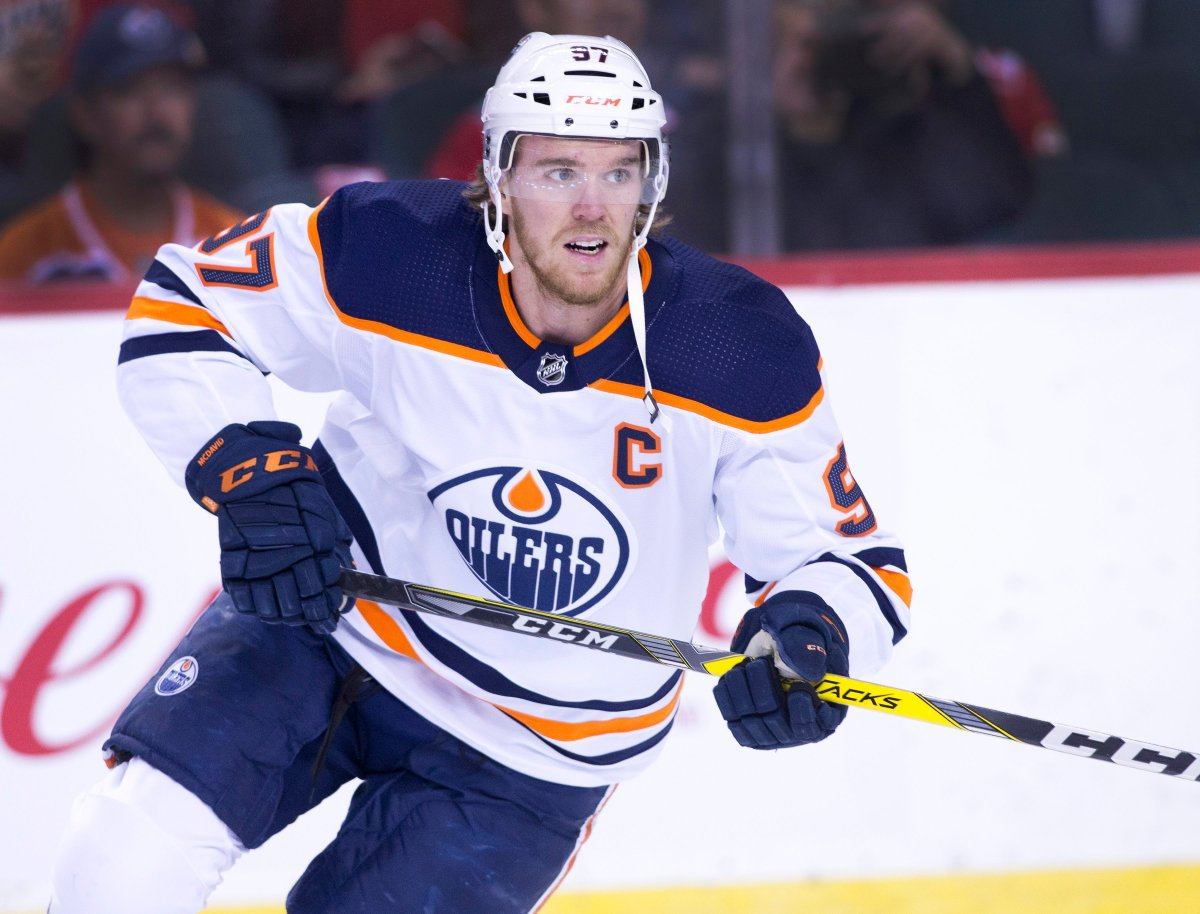 NHL profile photo on Edmonton Oilers player Connor McDavid at a game against the Calgary Flames in Calgary, Alta. on Sat., Feb. 1, 2020.  THE CANADIAN PRESS IMAGES/Larry MacDougal.