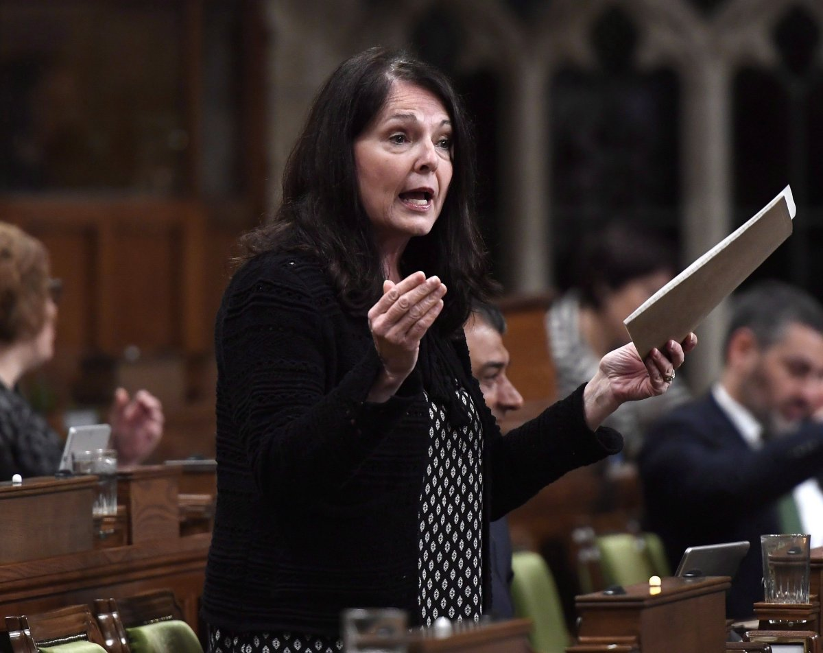 Conservative MP Cathay Wagantall asks a question during question period in the House of Commons on Parliament Hill in Ottawa in this file photo.