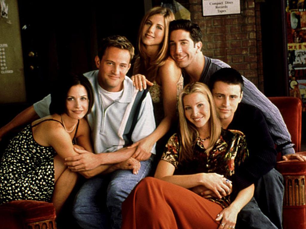 'Friends' cast (L-R):, Courteney Cox, Matthew Perry, Jennifer Aniston, David Schwimmer, Lisa Kudrow and Matt LeBlanc in 2000.