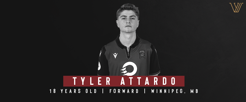 Forward Tyler Attardo of Valour FC.