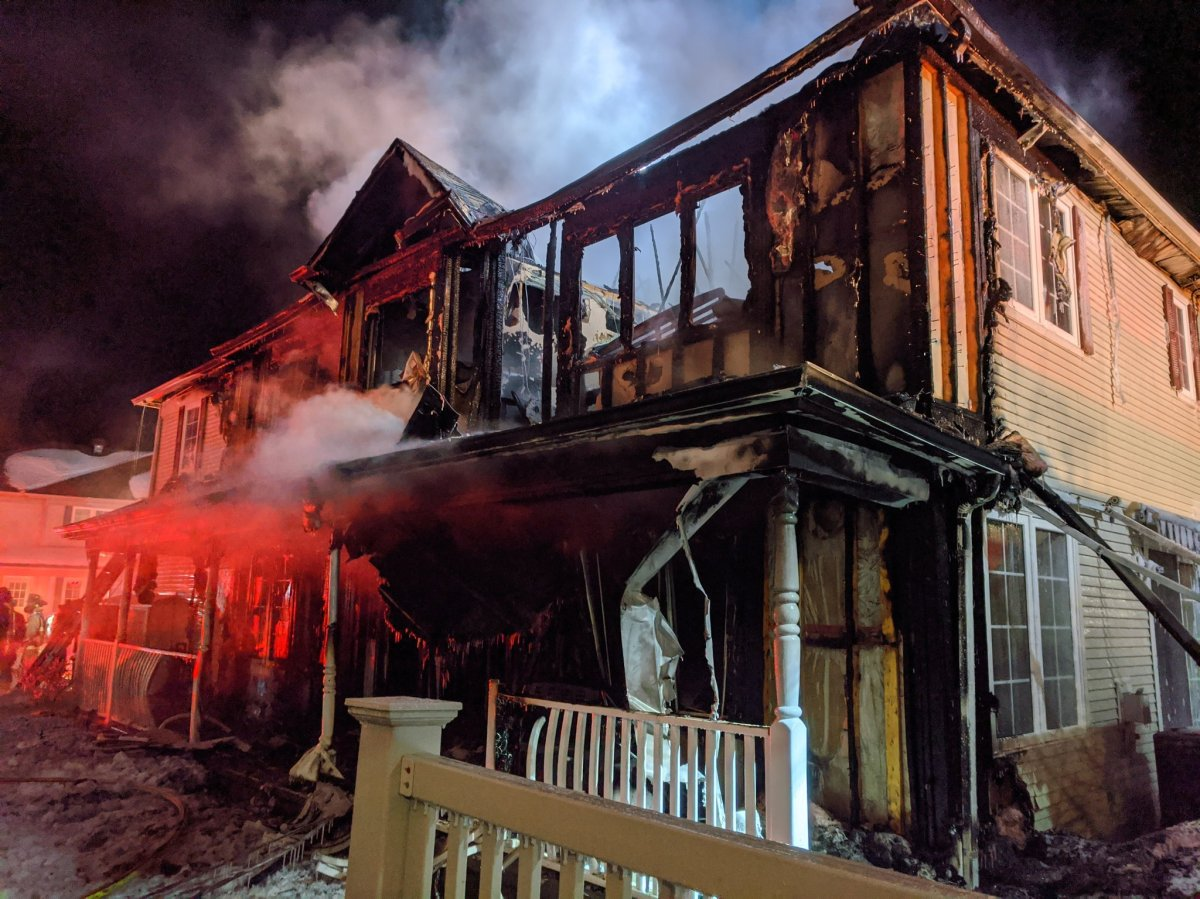Ottawa firefighters fought a two-alarm blaze early Friday morning that ripped through a two-storey home in the suburb of Barrhaven. No one was injured, according to the fire department.