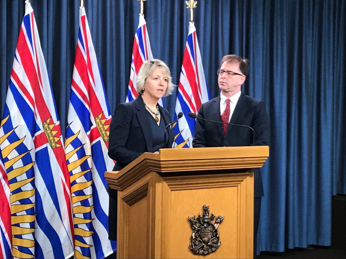 Dr. Bonnie Henry and Health Minister Adrian Dix provide a COVID-19 briefing.
