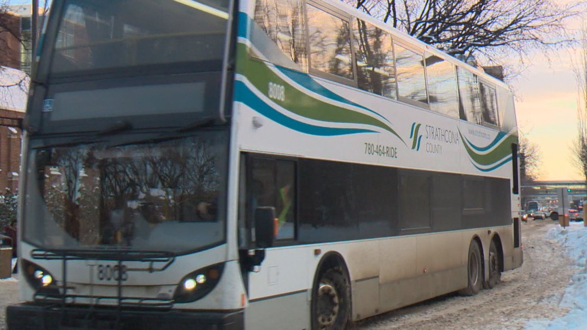 A photo of a Strathcona County bus.