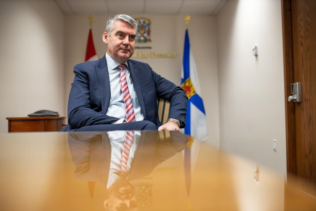 Premier Stephen McNeil answers questions at a year-end media interview in a meeting room at the Office of the Premier in Halifax on Wednesday, Dec. 18, 2019.