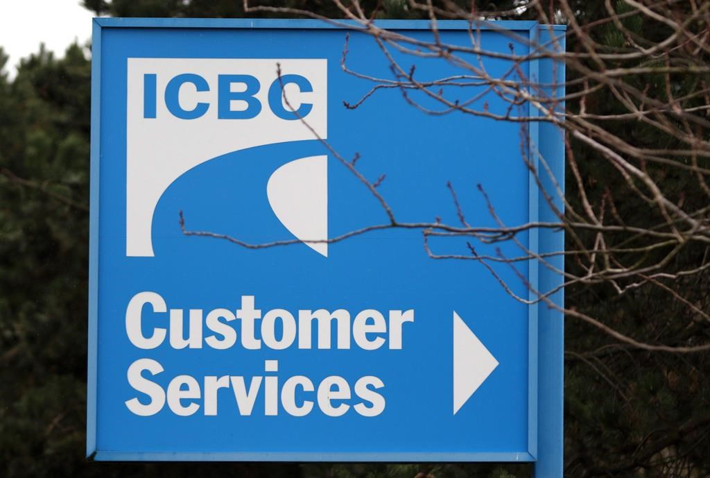 Signage for ICBC (Insurance Corporation of British Columbia) is shown in Victoria, B.C., on February 6, 2018. The British Columbia government is moving to curtail lawyers and legal costs in the public auto insurance system by severely limiting injured people's ability to sue at-fault drivers or the auto insurer after a crash. THE CANADIAN PRESS/Chad Hipolito.