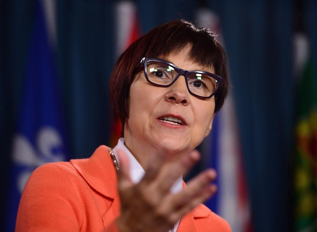 Cindy Blackstock, Executive Director of First Nations Child and Family Caring Society holds a press conference on Parliament Hill in Ottawa on Thursday, Sept. 15, 2016.