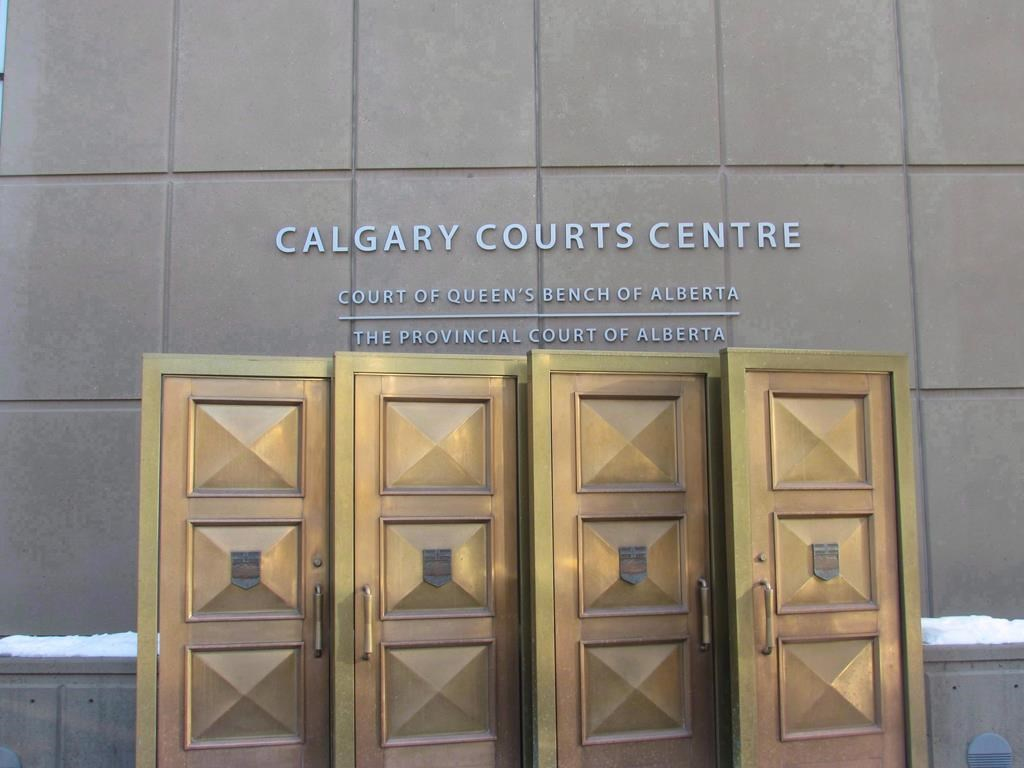 The sign at the Calgary Courts Centre in Calgary, is shown on Friday, Jan. 5, 2018.
