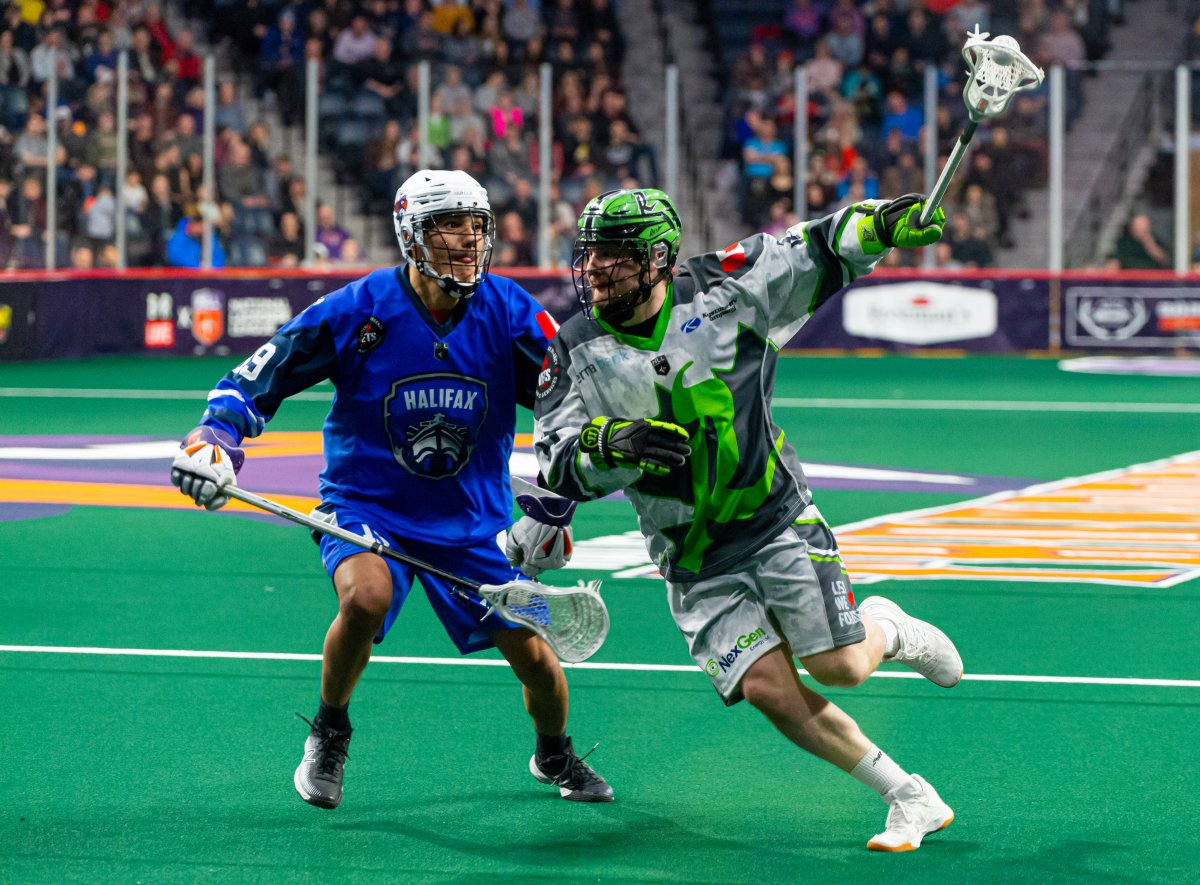 The Halifax Thunderbirds battled it out with the Saskatchen Rush at the Scotiabank Centre in Halifax on Feb. 15, 2020.