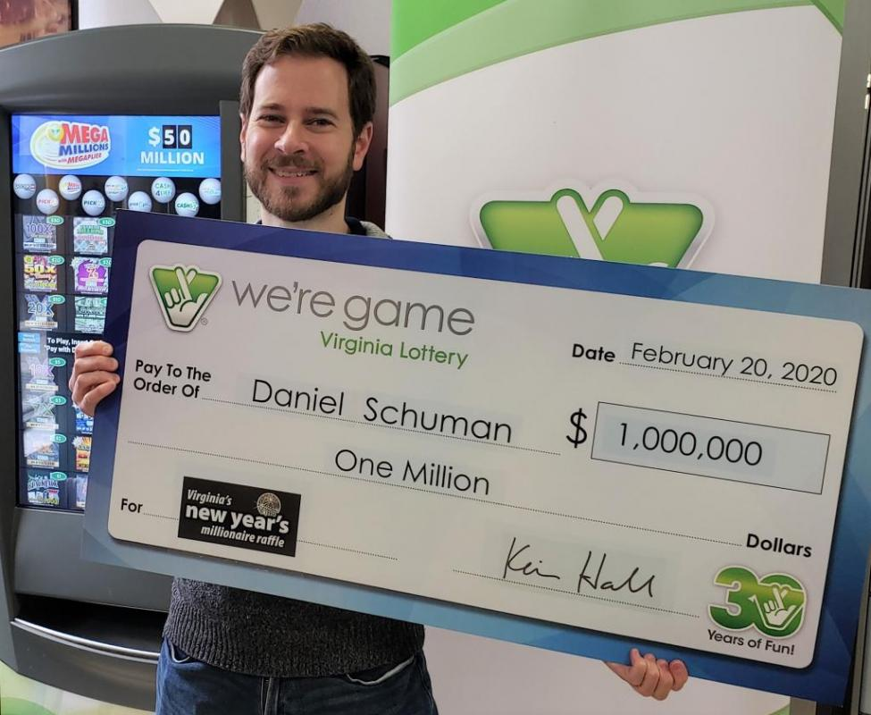 Daniel Schuman ended up winning $1 million on a lottery ticket given to him as a gift.
