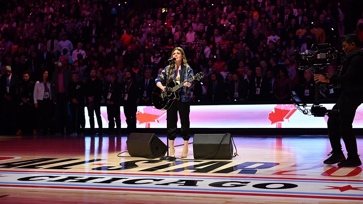 Weyburn, Sask. singer Tenille Arts performed the Canadian national anthem at the NBA All-Star 2020 Game in Chicago on Sunday.