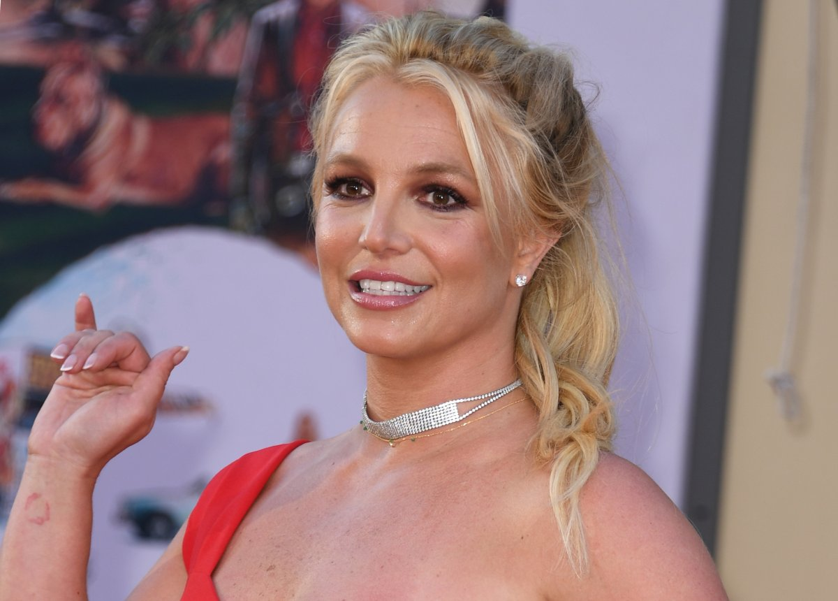 U.S. singer Britney Spears arrives for the premiere of Sony Pictures' 'Once Upon a Time... in Hollywood' at the TCL Chinese Theatre in Hollywood, California on July 22, 2019.