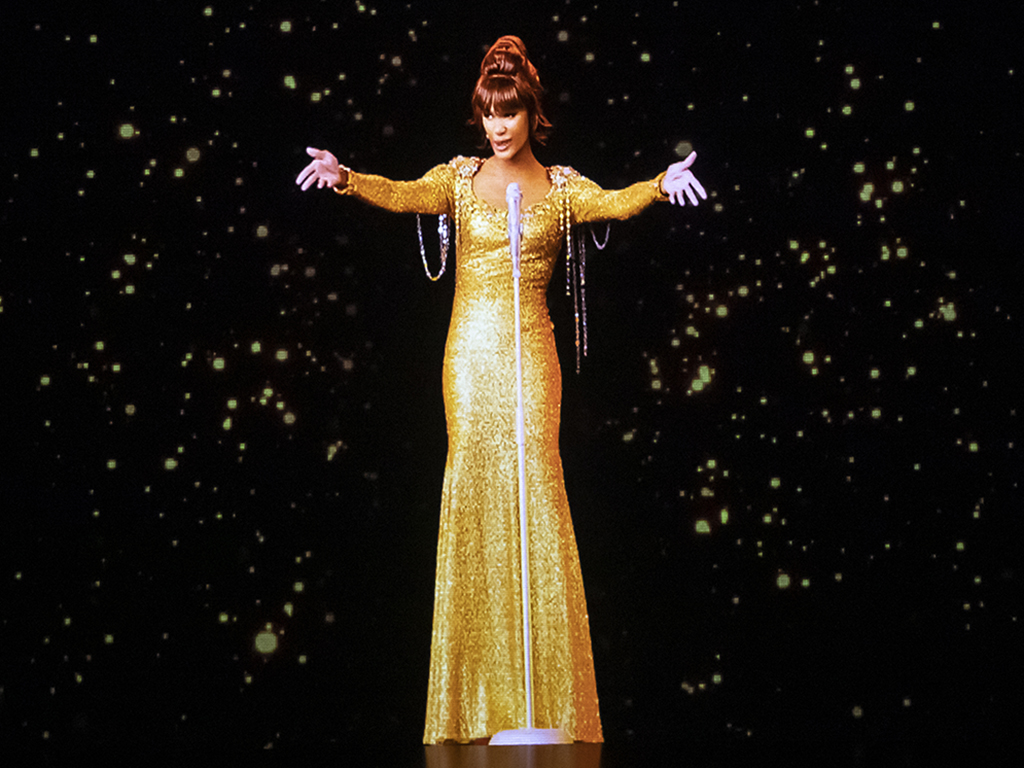 A dress rehearsal for the Whitney Houston hologram tour, which opens tonight at City Hall in Sheffield, England before embarking on a international tour.