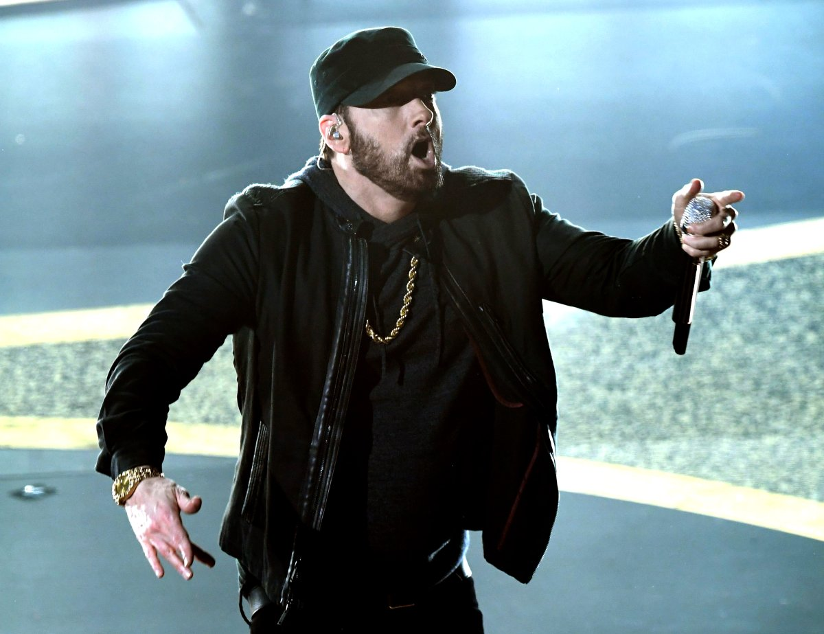 Eminem performs onstage during the 92nd Annual Academy Awards at Dolby Theatre on February 09, 2020 in Hollywood, California.