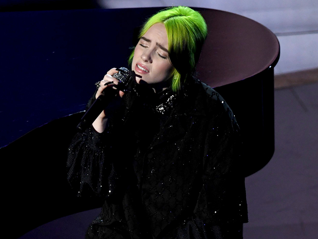Billie Eilish performs onstage during the 92nd Annual Academy Awards at Dolby Theatre on Feb. 9, 2020 in Hollywood, Calif.