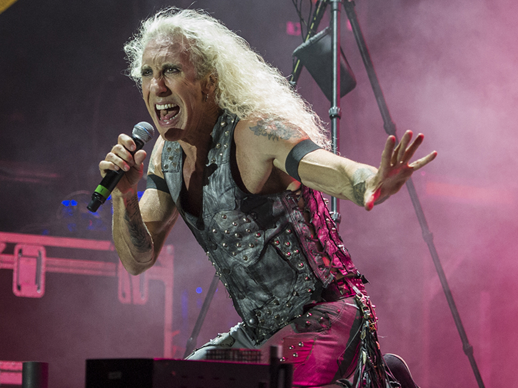 Dee Snider of Twisted Sister performs live on stage at Bloodstock Festival in 2016.